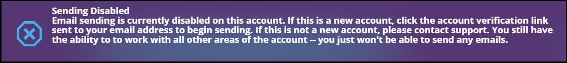 Why is my account sending disabled?